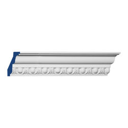 """Inviting Home - Preston Egg-and-Dart Crown Molding - Preston egg-and-dart crown molding 3""""H x 1-1/2""""P x 3-3/8""""F x 7'10""""L; repeat - 1-1/2"""" 4 piece minimum order required crown molding specifications: - outstanding quality crown molding made from high density polyurethane: environmentally friendly material is hypoallergenic and fully recyclable no CFC no PVC no formaldehyde; - front surface of this molding has extra durable and smooth surface; - crown molding is pre-primed with water-based white paint; - lightweight durable and easy to install using common woodworking tools; - metal dies were used for consistent quality and perfect part to part match for hassle free installation; - this crown molding has sharp deep and highly defined design; - matching flexible molding available; - crown molding can be finished with any quality paints; Polyurethane is a high density material--it's extremely lightweight and easy to install (and comes primed and ready to paint). It is a green material meaning its CFC and formaldehyde free. It is also moisture resistant--so it won't shrink flex or mold. What's also great about Polyurethane is that it's completely customizable and can be treated as wood (you can saw it nail it screw it and sand it). In addition our polyurethane material comes primed and ready to paint. There is a four piece minimum requirement for this molding purchase."""