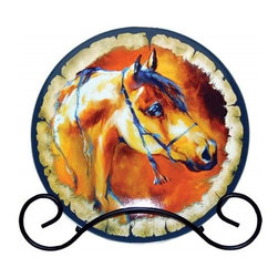 Westland - Showtime Brown Arabian Horse Decorative Plate with Black Holder - This gorgeous Showtime Brown Arabian Horse Decorative Plate with Black Holder has the finest details and highest quality you will find anywhere! Showtime Brown Arabian Horse Decorative Plate with Black Holder is truly remarkable.