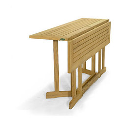 Westminster Teak Furniture - Barbuda Teak Rectangular Folding Table - You'll have it made in the shade with this sun-loving teak table as it is totally umbrella friendly. Made of premium teak, it also folds conveniently for storage so it's out of the way when not in use.