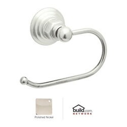 """Rohl - Rohl ROT8PN Polished Nickel Country Bath Country Bath Single Post - Country Bath Single Post Toilet Paper HolderThe Rohl Country Bath collection matches a relaxed country lifestyle with refined Italian elegance. Inspired by the scenic regions of northern Italy, the Rohl Country Bath collection is also crafted there. This collection is the ideal combination of form and function. Look for a number of different variations within the Rohl Country Bath collection, with popular families like Verona, Alessandria, Hex, and Viaggio. Give your kitchen and bathroom an amazingly stylish update and upgrade with Rohl's Country Bath collection.Rohl ROT8 Features:Solid metal construction - weight: 2 lbs.Superior finishing process – chemical, scratch, and stain resistantTissue holder length: 6""""Accommodates oversized toilet paper rollsExtra secure mounting assemblyEasy to clean and installAll mounting hardware includedFully covered under Rohl's limited lifetime warrantyManufactured in New Zealand, Western Europe, and/or North AmericaAbout Rohl:Excellence, durability, and beauty. Family values, integrity, and innovation. These are all terms which aptly describe Rohl and its remarkable selection of kitchen and bathroom faucets and fixtures. Since 1983, Rohl has maintained a commitment to providing high-quality plumbing products for residential and commercial applications, while assuring these fixtures would make a difference in the overall décor in the living space. With a dedication to excellence throughout the home, Rohl has been satisfying homes, schools, hospitality venues, and restaurants all around the world. Rohl specializes in providing timeless designs for every type of theme, including traditional, transitional, and modern. When Rohl suggests its products reflect the feel of a certain area outside the United States, it's more than just that. Rohl products are authentically crafted in towns in New Zealand, West"""