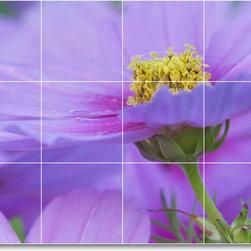 Picture-Tiles, LLC - Flower Photo Shower Tile Mural F101 - * MURAL SIZE: 18x24 inch tile mural using (12) 6x6 ceramic tiles-satin finish.