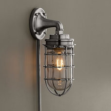 Mariner's Sconce Antique Brushed Nickel Mariner's Sconce Antique Brushed Nickel