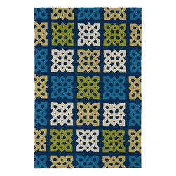 "Home and Porch 2032-17 Blue Rug - Home & Porch is a beautiful and elegant collection produced to be a wonderful addition to any room in your home yet durable enough to be used outdoors. This collection is reflective of a more active lifestyle and invites the expansion of an indoor living space to the outdoors. Home & Porch is UV treated against excessive fading and is water protected. Handmade in China with 100% polypropylene and finished with our ""K-Stop"" Non-Skid backing."