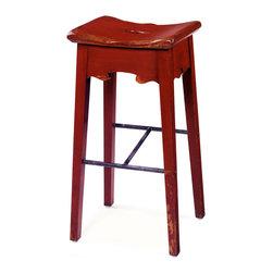 The No. 119 Bar Stool, Barn Red -