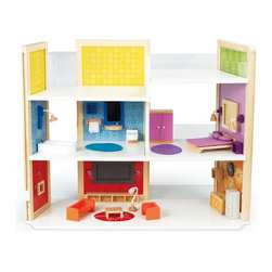 Hape - DIY Dream House - Create the house of your dreams with unique magnetic furnishings and your own framed artwork.