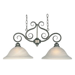 Maxim Lighting - Maxim Lighting Pacific Island Pendant in Pewter - Shown in picture: Simple - elegant designs offered in a variety of our most popular finishes. Choose from Acorn - Country Stone - Pewter and Kentucky Bronze. Glass options are Marble and Wilshire.