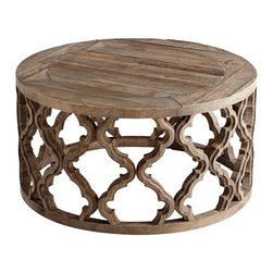 "Cyan Design - Sirah Coffee Table - Sirah Coffee Table 15.75""(h) x 30.5""(dia) Black Forest Grove"