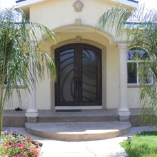 Contemporary Front Doors by Iron Doors Now