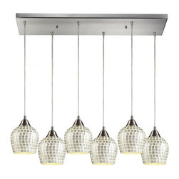 ELK Lighting - Six Light Satin Nickel Multi Light Pendant - Six Light Satin Nickel Multi Light Pendant