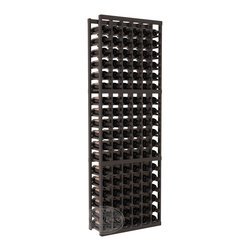 6 Column Standard Cellar Kit in Redwood with Black Stain + Satin Finish - Six columns for bottle storage is a perfect solution for 9 cases of wine. The modular format ensures you can expand storage without worrying about new racks lining up properly. We construct every rack to our industry-leading standards. You'll love our racks. Guaranteed.