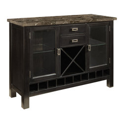 Standard Furniture - Standard Furniture Gateway Grey Server in Dark Chicory Brown - Impressive proportions and bold styling give Gateway Dining a dynamic contemporary personality.