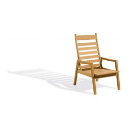 Oxford Garden - Siena Reclining Armchair - The perfect reclining chair for small balconies or any place where space is limited.  The back and seat slide as a unit, reducing the amount of space needed.  Easily reclines into 5 different positions.  This item requires a cushion for maximum comfort.