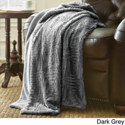 None - Luxury Faux Fur Throw - Beautiful luxury faux fur throw adds dimension and style to this captivating single-color throw blanket. Crafted with soft microfiber polyester faux fur,this charming throw comes in several chic color options and is conveniently machine washable.