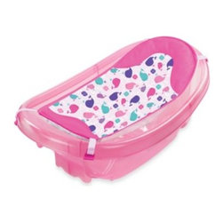 Summer Infant - Summer Infant  Sparkle 'n Splash Newborn to Toddler Baby Bath in Pink - The Sparkle 'n Splash Newborn to Toddler Baby Bath grows with your child from newborn through toddler years. It features a newborn clip-on sling that wraps around your child for a relaxed bathing experience.