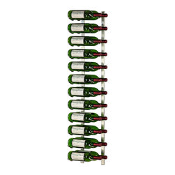 VintageView - VintageView 24 Bottle Metal Wine Rack, Brushed Nickel - Create a wall wine rack system anywhere. These metal wine racks are slightly taller than the WS3 Series, but equally decorative and versatile. Showcase your wine, not the racks. We are proud to be the best dealer of VintageView products in America, and we back our position with unsurpassed customer service.
