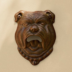 Bulldog Wall-Mount Bottle Opener - This bulldog-inspired bottle opener is more subtle with its friendly face, but still works great for popping open a cold one.