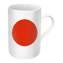 "Konitz - Set of 4 Flag Mugs Japan - Show your national pride with this patriotic mug in a Japanese Flag design. The Japan Flag Mug is perfect for celebrating holidays or showing love for your country. The bottom of the mug explains the unique symbolism of the Japanese national flag, called ""Hinomaru"" or ""sun disc"": the design dates back to the 13th century, when the flag was given to the temple by the emperor."
