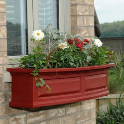 Mayne 60-Inch Nantucket Window Box with Optional Mounting Brackets
