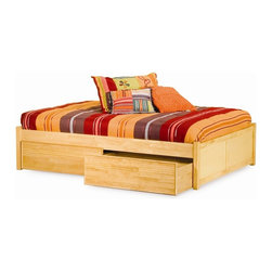 Atlantic Furniture - Atlantic Furniture Concord Flat Panel Daybed in Natural Maple - Atlantic Furniture - Daybeds - AP8123005 - The Concord is a contemporary daybed with a clean design andample selection of colors. The Concord can coordinate and adapt to anybedroom or any Atlantic Furniture case goods. Set it up as a daybed oras a more traditional platform bed.Add under bed drawers for additional storage or a trundle for extracompany. Perfected with Atlantic Furniture's high build Five Step Finishing Process onEco-friendly hardwood the Concord Daybed is an ideal addition to anybedroom.Features: