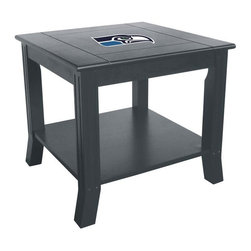 Imperial International - Seattle Seahawks NFL Side Table - Take a look at this great Side Table. It's a perfect accessory for your Man Cave, Game Room, Garage or Basement.
