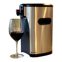 Boxxle - Boxxle Premium 3Liter Box Wine Dispenser - Now you can enjoy the convenience and taste of boxed wine in a stylish, efficient way. This sleek, stainless steel dispenser will keep three liters of wine fresh for up to six weeks, and look elegant while doing it.