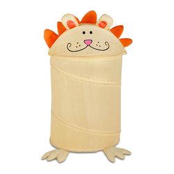 Honey Can Do - Medium Kid's Pop-Up Hamper - Lion - Medium kid's Lion pop-up hamper. 170T polyester. 3mm spring wire. 16 in. L x 16 in. W x 30 in. H