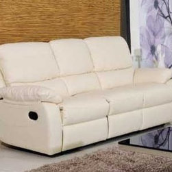 Valeria Italian Leather Sofa - With only the very best top grain 100% genuine Italian leather, soft comfortable cushioned seating, and smooth recliners, The Valeria Italian Leather Reclining Sofa is a great choice for your upscale living room decor.