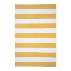 Z Gallerie - Capri Rug - Awaken your surroundings with our boldly striped Carpi Rug. With wide scaled stripes juxtaposed against ivory, our Capri Rug adds vibrancy and style to a variety of decor settings. Hand-woven from recycled materials in a traditional flat weave style, makes our Capri a timeless classic for homes and offices alike. Available in six radiant hues; Lemon, Paprika, Sand, Black, Sapphire and Aqua.