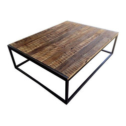 pre owned reclaimed t g barnwood coffee table rustic and