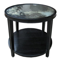 Noir - Noir - Imperial Side Table, Hand Rubbed Black - Hand Rubbed Black Mahogany Wood
