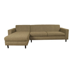 Lazar Industries - Ross Sectional Chaise and 2-Seater, Woolco Taupe - Ross Sectional:  Chaise and Adjacent 2-Seater by Lazar Industries offers clean lines on a compact, symmetrical and track arm style.