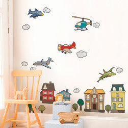 Simple Shapes - Airplanes and Helicopters - Size: