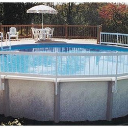 """Above Ground Pool Resin Fence Kit (Base Kit with 8 Sections) - -Solid 24"""" Fence safely keeps unwanted invaders out and toys & floats in"""