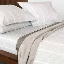 Pins 100% Organic Cotton Duvet Cover - The bed linens are from a company called Area out of New York. Their products are designed by Anki Spets, with carefully chosen colors, one of a kind patterns and subtle details to create unique options. All of the bedding is made from natural fibers, and materials and factories are carefully chosen from around the world to ensure quality goods that last.