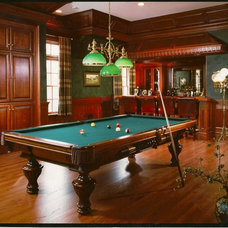Traditional Basement by Peter Salerno Inc
