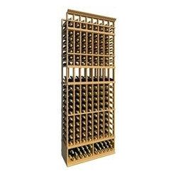 8' Eight Column Display Wood Wine Rack - The 8' Eight Column Display Wood Wine Rack is part of our 8' Series.