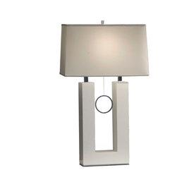 Nova Lighting - Nova Lighting 11638 Earring Standing Table Lamp-White - Nova Lighting 11638 Earring Standing Table Lamp-White