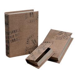 Sterling Industries - Sterling Industries 89-8500 Set Of 3 Linen Wrapped Storage Boxes - Box (3)
