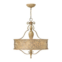Fredrick Ramond - Fredrick Ramond FR44623BCH Carabel 3 Light Chandeliers in Brushed Champagne - 3Lt Chandelier