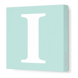 "Avalisa - Letter - Upper Case 'I' Stretched Wall Art, 12"" x 12"", Sea Green - Spell it out loud. These uppercase letters on stretched canvas would look wonderful in a nursery touting your little one's name, but don't stop there; they could work most anywhere in the home you'd like to add some playful text to the walls. Mix and match colors for a truly fun feel or stick to one color for a more uniform look."