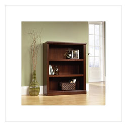 Sauder - Sauder 3 Shelf Bookcase in Select Cherry - Sauder - Bookcases - 412808 - This bookcase is a practical addition to any home or office. Featuring two adjustable shelves this bookcase will add style and storage to any room. Select Cherry finish.
