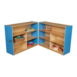 Wood Designs - Wood Designs 36H in. Folding Versatile Storage Unit - WD13730B - Shop for Childrens Toy Boxes and Storage from Hayneedle.com! About WDM Inc.For 30 years Wood Designs has put passion for the enrichment and safety of children into quality wooden early learning furniture. Dennis and Debbie Gosney the couple behind this labor of love have taken their 50 years combined experience in child development furniture manufacturing and built a company at the forefront of innovation and safety. Intuitive design coupled with novel safety features like Pinch-me-not hinges and Tip resistant furniture set Wood Designs apart from the typical early learning furniture manufacturers.