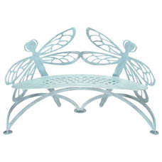 Eclectic Outdoor Benches by Cottage & Bungalow