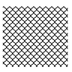 Removable Wallpaper-Moon Lattice-Peel & Stick Self Adhesive, Black, White, 24x10 - Couture WallSkins.  Your wall will love you for this.