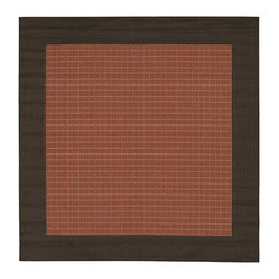COURISTAN INC - Recife Terra Cotta Checkered Field Rug (8'6 x 8'6) - Welcome guests to your home with this power-loomed field rug. Featuring a checkered design,this field rug is designed to resist mold and mildew. It can be used both inside and outdoors,making this rug a versatile design option for your home.