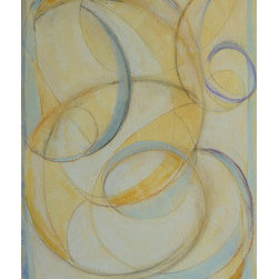 Pause Flow Pause (Original) By Lily Balaz - This is a mixed medium piece which is drawn quickly and intuitively in ink then colored with paint and pastels. It can be hung vertically or horizontally.