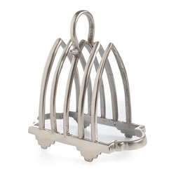 Brasserie Envelope Holder - An essential of the office which adds a chic, indulgent mood to the American home, this Brasserie Pewter Letter Holder is finished in the dark, brushed silver-grey found in traditional pewter home and dining accents. Seven arches make way for important letters and mailings with a small looped handle as an accent.