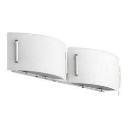 Quorum International - Quorum International 5586-2 2 Light ADA Compliant Wall Washer Wall Sconce - Quorum International 5586-2 2 Light ADA Compliant Wall Washer Wall SconceA sleek, low profile and futuristic style is the hallmark of this two light halogen bathroom fixture.Quorum International 5586-2 Features: