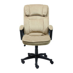 Serta by True Innovations - Serta Executive Office Chair in Light Beige Microfiber - Serta by True Innovations - Office Chairs - 43670 - About This Product: