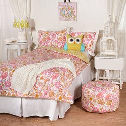 Lolli Living - Whimsy Pink Damask Twin Comforter and Sham Set - Whimsy Pink Damask Twin Comforter and Sham Set
